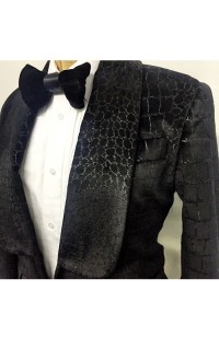 silk croc blazer side