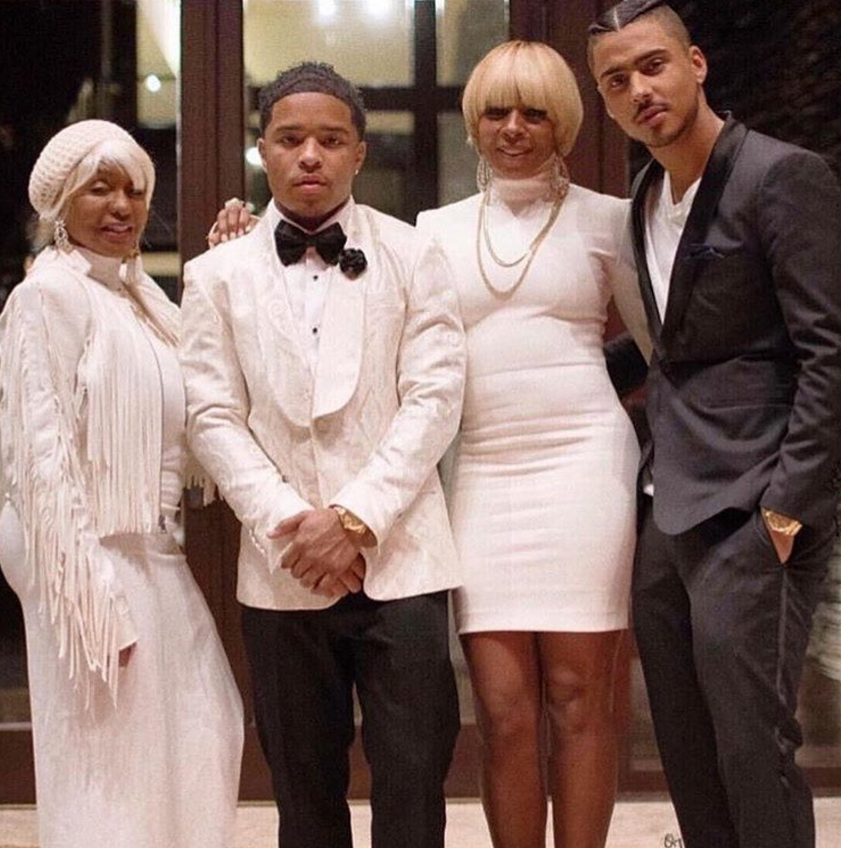Justin Dior Combs Rocking In Style For New Years Eve